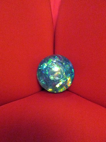 It's the same old question. Is your biology your destiny? (Blue Iridescent Ball)