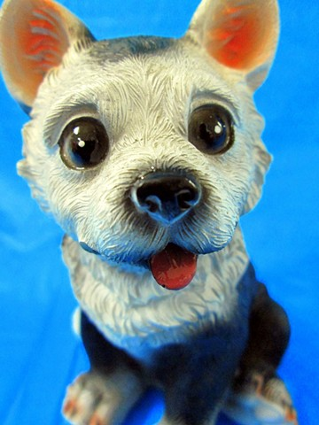 Luv Bunnies (Dog on Blue)