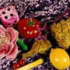 """""""Still Life with Pink Fuzzy Dice and Fried Chicken"""""""
