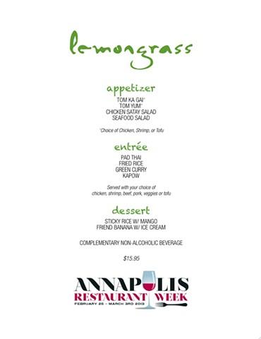 Lemongrass Menu Design