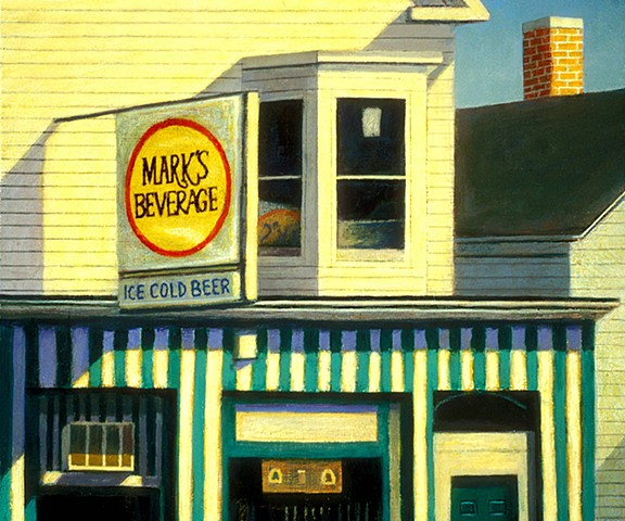 painting of urban landscape New Bedford art by Art Ballelli
