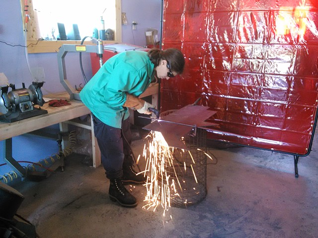 Welding for Women Class, May 2014