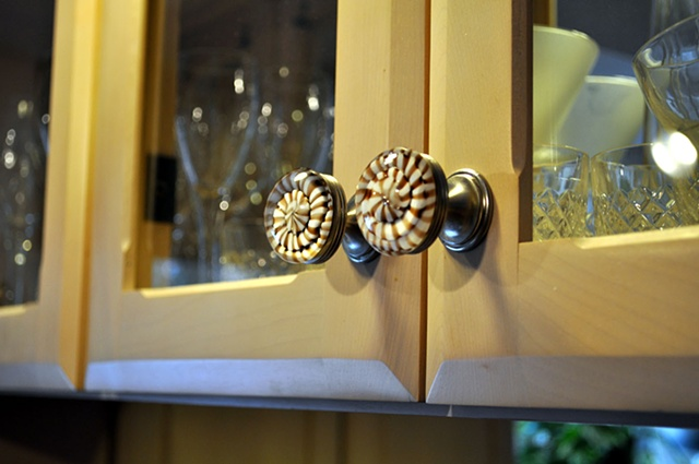 Custom Kitchen Knob Set, cabinet view