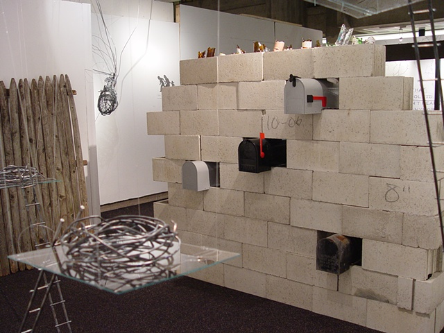 Installation View with Mailboxes