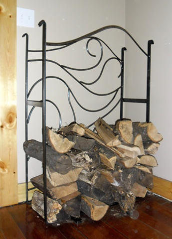 Decorative Iron Wood Rack