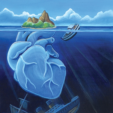 Mock CD cover for Matty Charles and the Valentines CD  (Land Beyond the Sea)