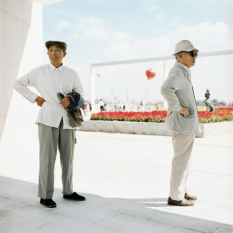 Two Uncles Waiting, Changchun, China 2003