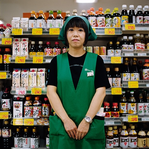 Store Assistant, Lovely Enmyoji Supermarket, Oyamazaki, Japan 2008