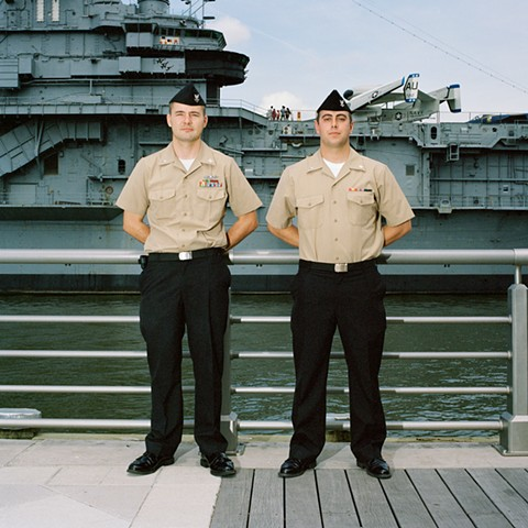 Craig and Christopher, Marines, Intrepid Museum, New York