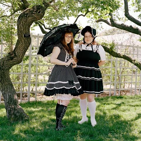 Carolyn and Janet, Lolitas, Brooklyn Botanical Garden, New York.