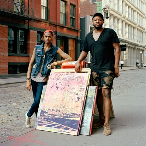 Darren, Model and Carlito, Artist, Soho, New York 2013