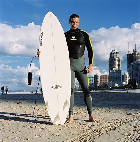 Canadian Surfer, Gold Coast, Australia.