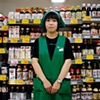 Store Assistant, Lovely Enmyoji Supermarket, Oyamazaki, Japan 2008