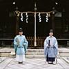 Shinto Priests, Rikyuhachimangu Shrine, Oyamazaki, Japan 2008
