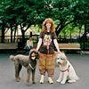 Clementine, Liz and Billy Bob, Mercer-Houston Dog Run, Greenwich Village, New York.