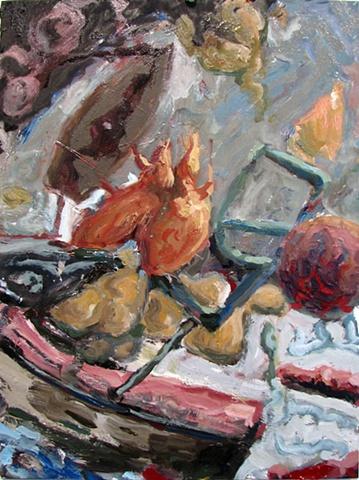 John Burkett Painting Close Hauled