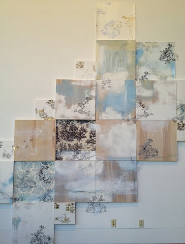"""""""Tous Ensemble"""" Toile, site specific installation for The Reynolds Ryan Gallery, Isidore Newman School, New Orleans, Louisiana."""