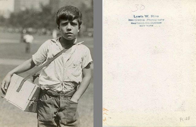 Photo of shoe shine boy by Lewis Hine