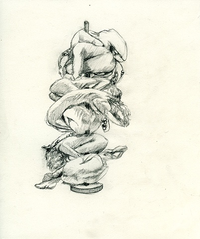 "Sketch For ""Pile"" (Sculpture in Progress)"