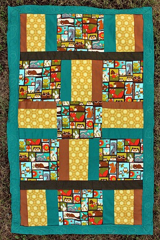 Woodland Quilt - SOLD at Cherrywood Art Fair
