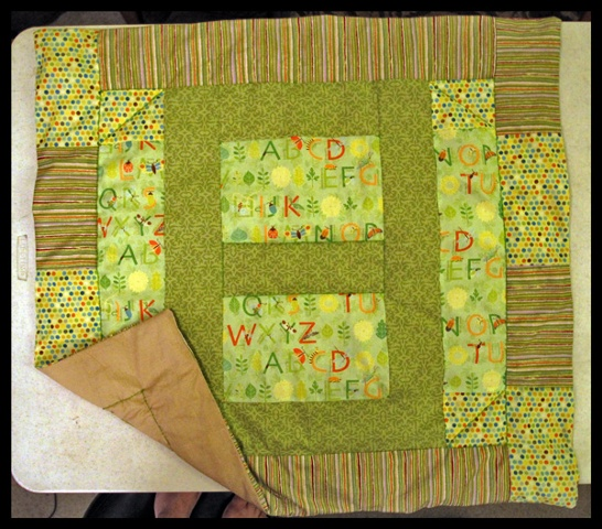 alphabet insect baby quilt
