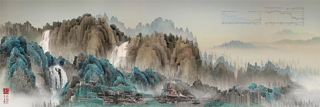 Yang Yongliang, &quot;Viridescence, Stock World&quot;