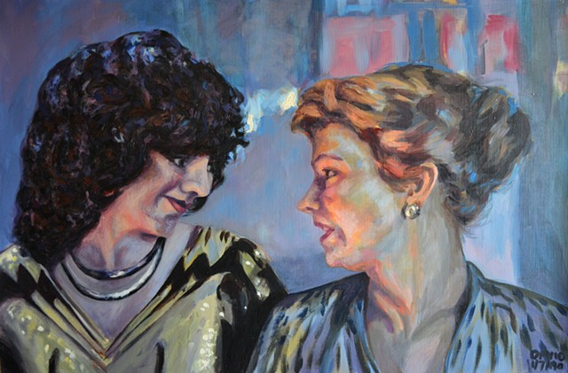 Two Middle Aged Women in a Nightclub, 1991, david brendan murphy, cypher, the panic artist