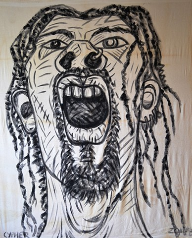 Self-Portrait with Dreadlocks, Neo-Expressionism, New Image, Expressionism, Realism, Art Brut, Raw Art, Outsider Art