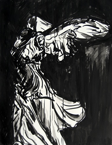 Victory, ink drawing, david murphy, 2008