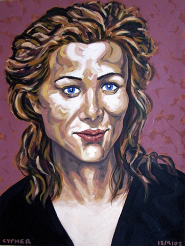 Female Portrait, 2002, david brendan murphy, cypher, the panic artist