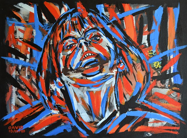 Woman Seen From Below, David Murphy, Cypher, Irish, Ireland, Eire, Dublin, Neo-Expressionism