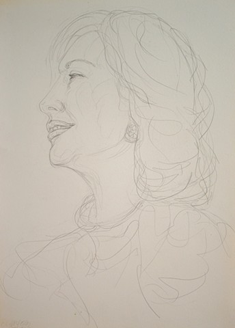 Mature Woman No. 3, portrait, woman, pencil, drawing, david murphy, cypher, the panic artist