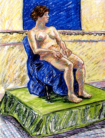 N.C.A.D. Female Seated Nude, 2003, david brendan murphy, cypher, the panic artist