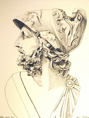 Spartan Head, 1989, david brendan murphy, cypher, the panic artist