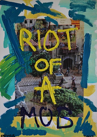 Riot of A Mob, David Murphy, affordable art, reasonable art