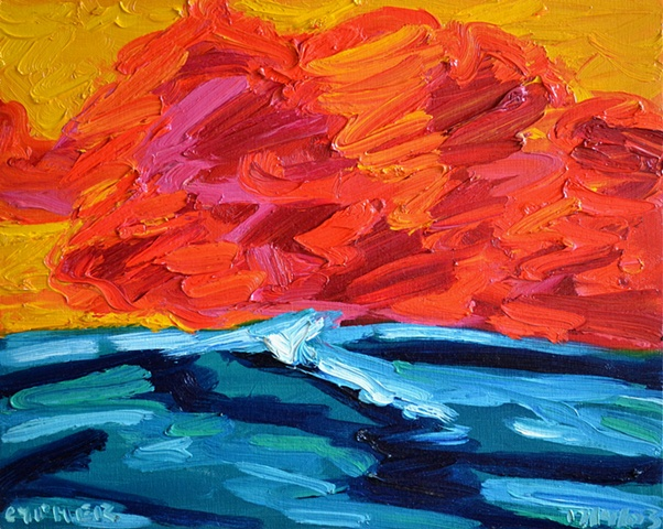 Red Sky Over Sea, 2003, david brendan murphy, cypher, the panic artist