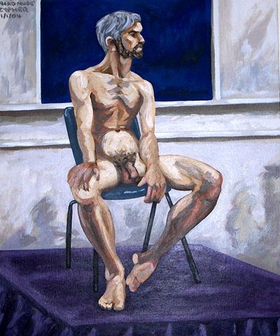 N.C.A.D. Seated Male Nude No. 3