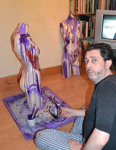 David Painting His Idol Sculptures No. 10