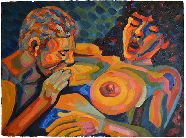 Nurture, Neo-Expressionism, breasts, porn, sex, David Murphy, Cypher, Irish, Ireland