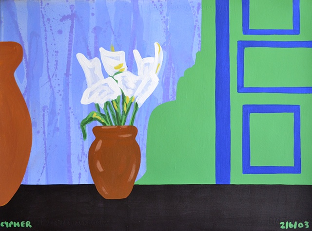 Flowers In A Vase No. 2, reasonable priced art, value art, David Murphy, Cypher, The Panic Artist