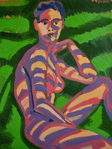 Seated Nude  in Forrest