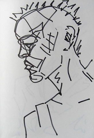 Head of Man in Pain, Notebook No. 43