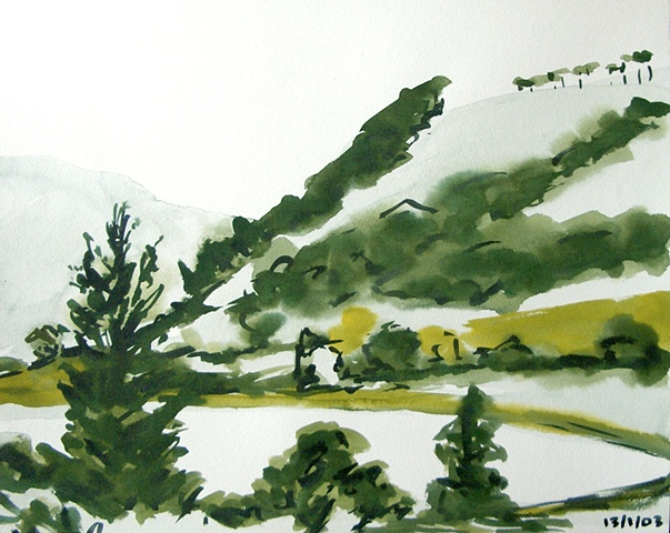 Glendalough Sketch, 2003, david brendan murphy, cypher, the panic artist