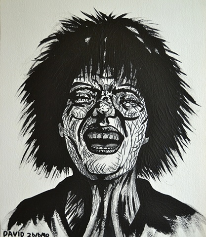 Screaming Girl No. 3, David Murphy, Irish artist, Irish painter, Irish draughtsman, Ireland,