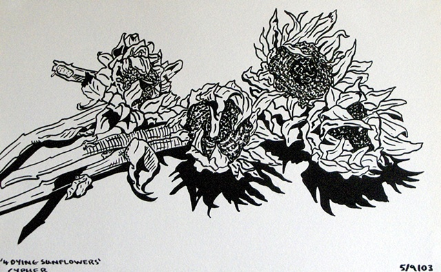 Dying Sunflowers, 2003, david brendan murphy, cypher, the panic artist