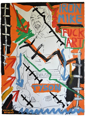 Fuck Art No. 3, Neo-Expressionism, Outsider Art, David Murphy, Cypher