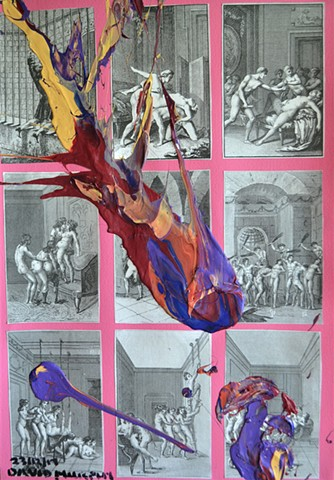 collage, erotica, abstract, vintage, collage, david murphy,