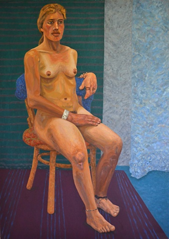 'Gretel' N.C.A.D. Seated Female Nude, 1993, david brendan murphy, cypher, the panic artist