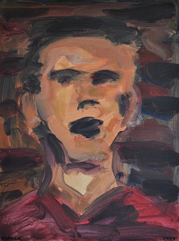Young Man, portrait, expressionism, David Murphy, Cypher, the panic artist, Irish, Ireland, Dublin