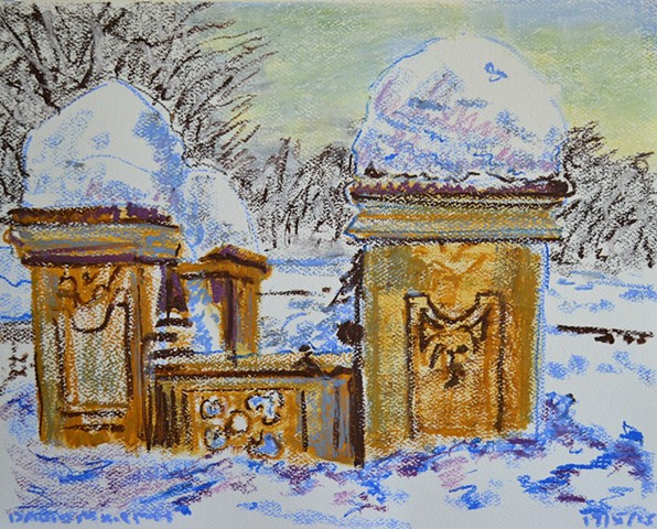 Central Park in The Snow No. 1, david murphy, cypher, the panic artist